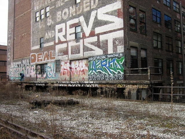 Spear & Co. loading dock on the abandoned High Line. Photo by Tim Saternow